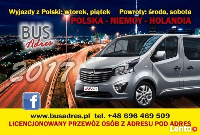 Busy do Holandii i Niemiec Płońsk Ciechanów Żuromin Płock