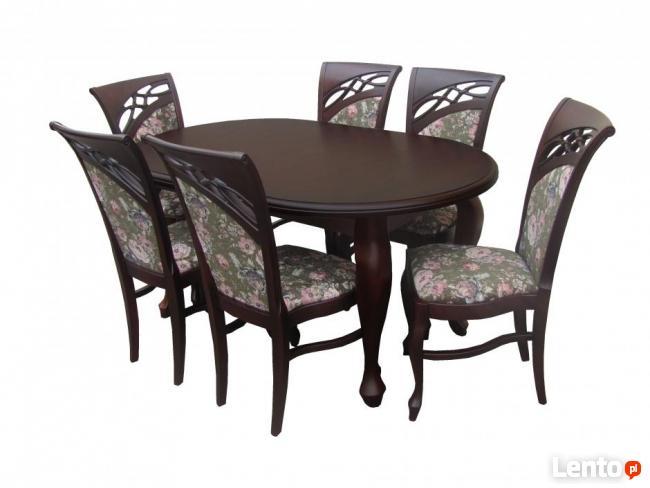 Krzesło tapicerowane ekskluzywne do salonu jadalni Nowe