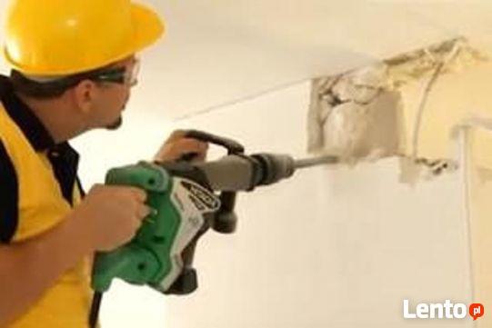 Skuwanie Glazury tynku betonu Wyburzanie Ścian, Rozbiórka