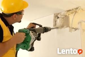 Skuwanie Glazury tynku betonu Wyburzanie ścian,rozbiórka