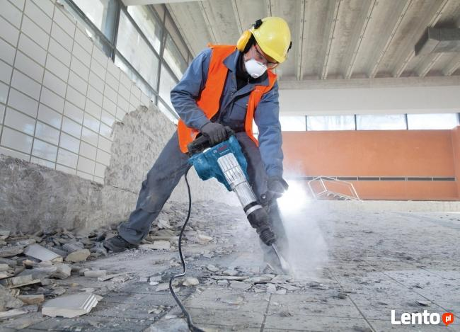 Rozbiórka, Wyburzanie Ścian Skuwanie Betonu Płytek, Kucie