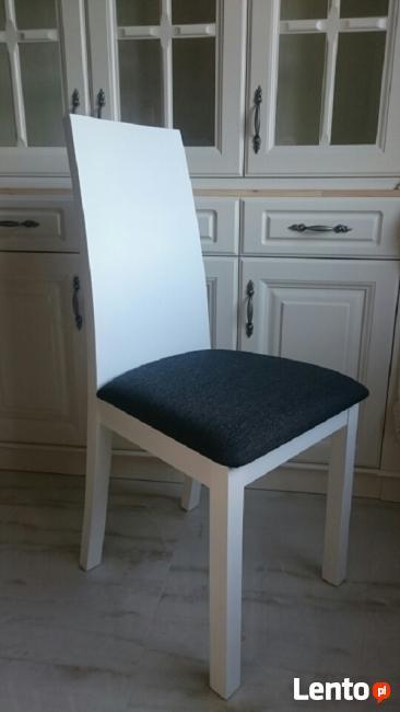 Krzesło tapicerowane nowoczesne białe do salonu kuchni NOWE