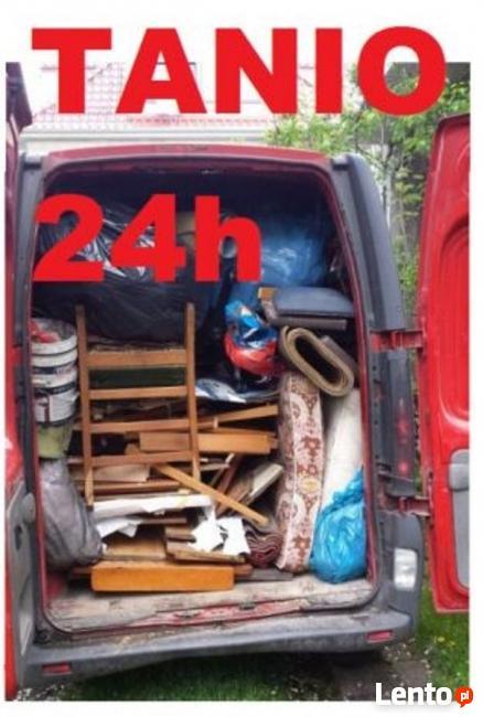 24h OPRÓŻNIANIE WYWÓZ śmieci mebli mieszkań domów piwnic