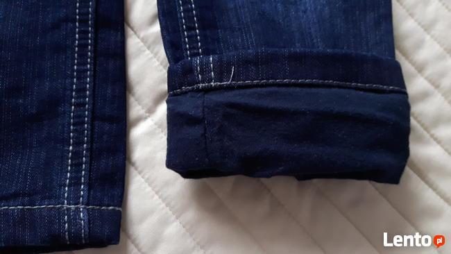 Spodnie jeansy ocieplane chłopięce 92 Lupilu nowe tanio