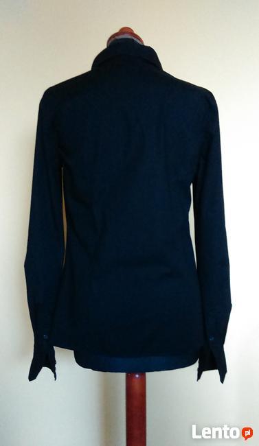 Czarna koszula klasyczna taliowana slim długi rękaw biznes s