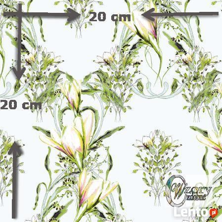 Materiał drukowany na zamówienie - Ornament kwiatowy seria 3