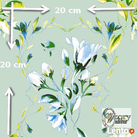 Materiał drukowany na zamówienie - Wiosenne kwiaty - seria 1