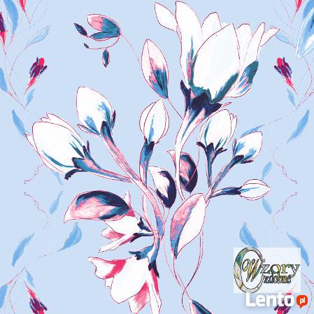 Materiał drukowany na zamówienie - Wiosenne kwiaty - seria 2