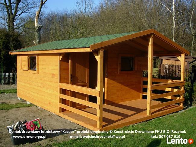 Archiwalne Domek Drewniany Ogrodowy Letniskowy Altana Kacper