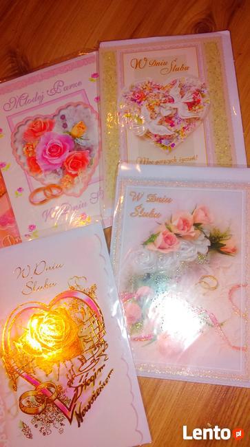 Kartki okolicznościowe do ślubu