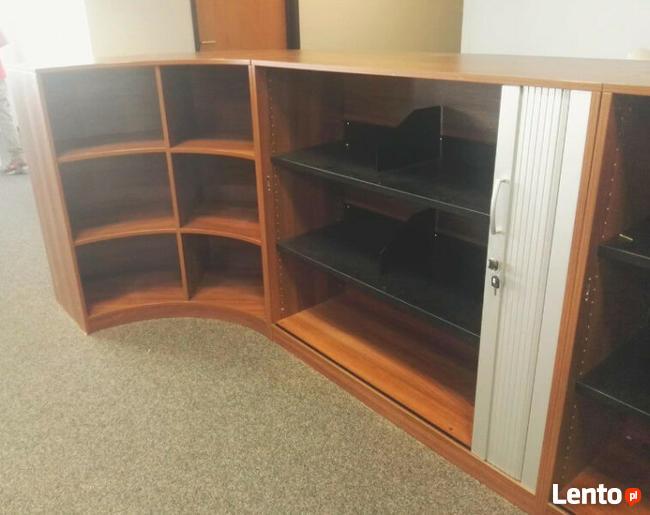 KONTUAR ŁUKOWY BALMA ORZECH 143 CM - meble biurowe używane