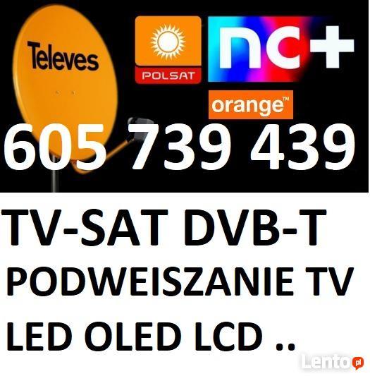 ANTENY Dvb-t,TV-SAT posat canał +,podwieszanie tv