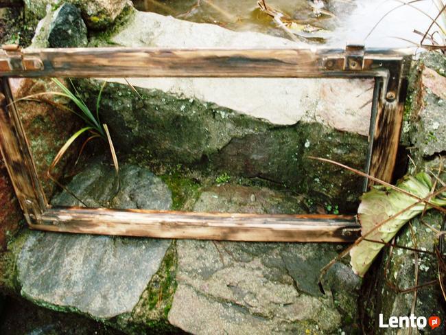Stara okna drewniane retro loft lustro zdjęcia grill, 41x74