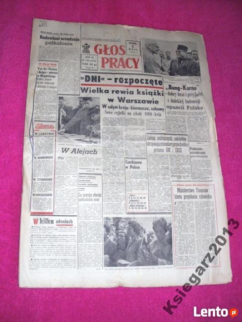 * Głos Pracy zestaw 17 numerów, rok 1959
