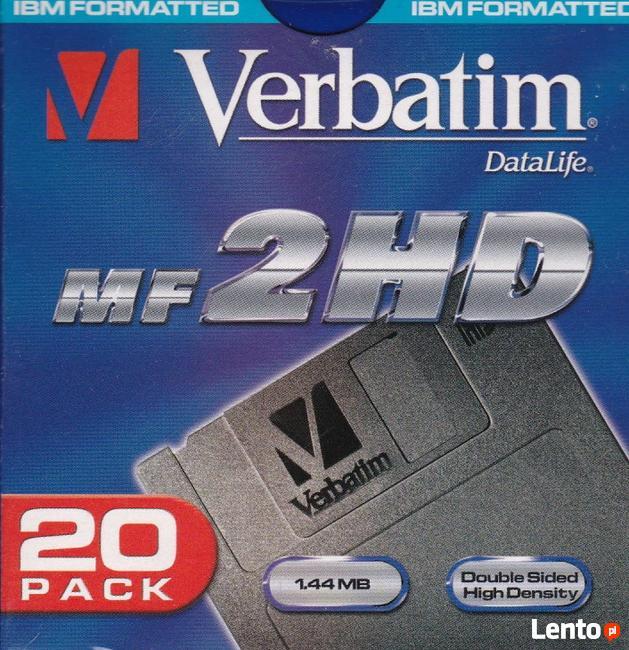 Sprzedam Verbatim nowe dyskietki 3,5 zapakowane po 20 szt.