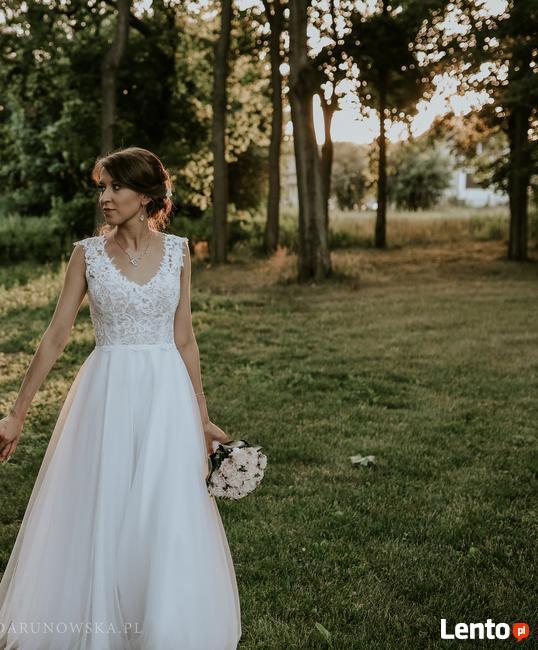 Suknia ślubna biała + welon (możliwość negocjacji)