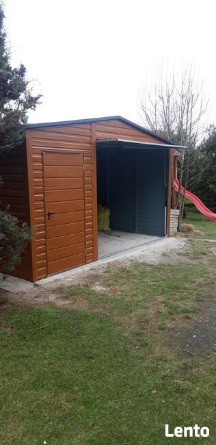 Garaże drewnopodobne profil