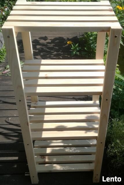 Mocny Regał drewniany - Sosna 45 x 30 x 110 cm