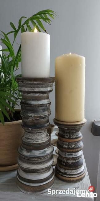 Ręczne toczenie w drewnie świeczniki toczone dekoracje itp.