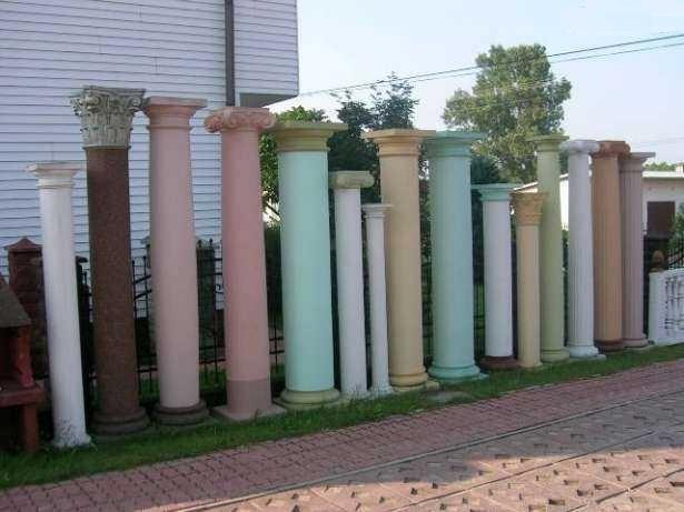 Kolumny betonowe filary podpory głowice doryckie - Turobin