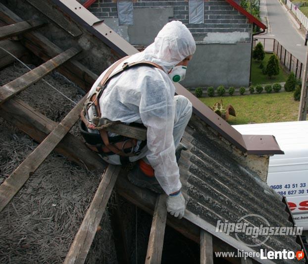 Utylizacja Azbestu Eternitu Zdejmowanie usuwanie bartoszyce!