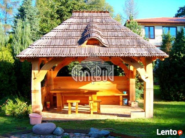 Altana Drewniana Ogrodowa Z Grillem Altanka Projekt Cena Płock
