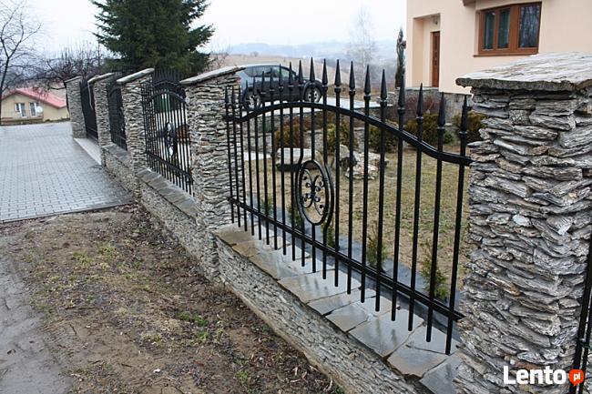 Modernistyczne Archiwalne Ogrodzenia z kamienia, grille, altany, donice, chodniki ID26