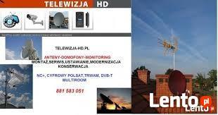 Montaz i ustawienie anteny.Domofony,monitoring.Białołęka