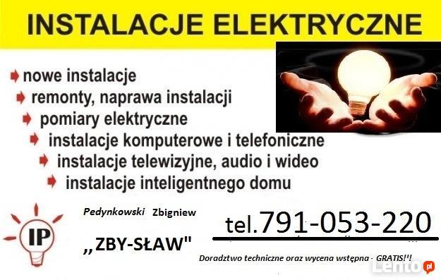 Pogotowie elektryczne , Instalacje , Awarie . Olsztyn