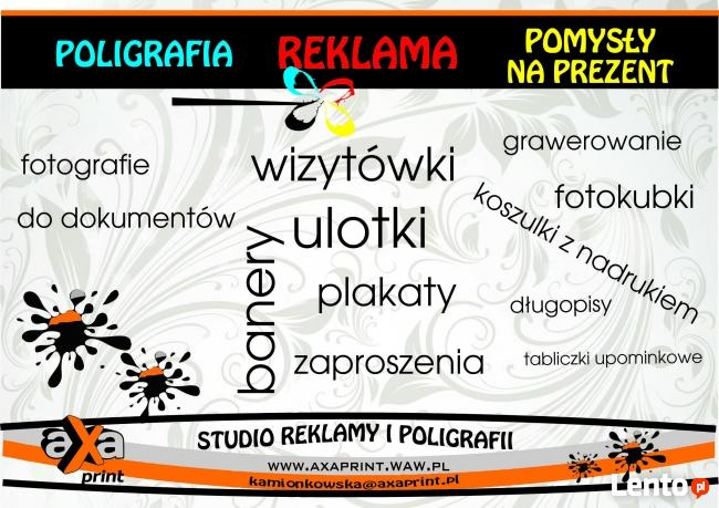 PUNKT USŁUGI STUDIO REKLAMY I POLIGRAFII . Warszawa- Praga P