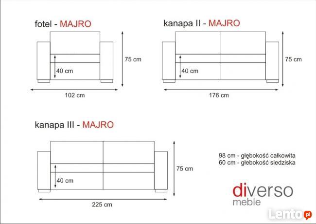 komplet wypoczynkowy MAJRO 3R+1+1 **Producent Kępno** e-raty