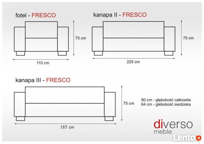 Komplet wypoczynkowy FRESCO 3+1+1 ** PRODUCENT KĘPNO**e-raty
