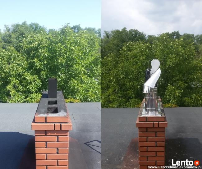 Szlamowanie kominów uszczelnianie naprawa komina kominy