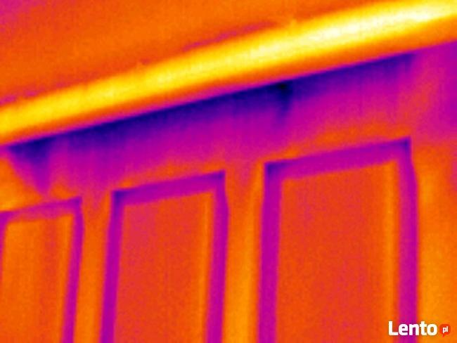 Wycieki instalacji. Kamera - termowizja budynku Łódź