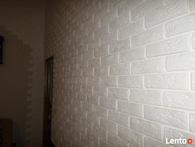 płytki gipsowa biała cegła z fuga dekoracyjne scienne