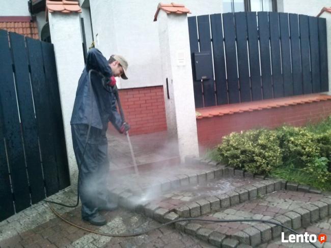 Mycie,czyszczenie kostki brukowej,elewacji,murów kamienia.
