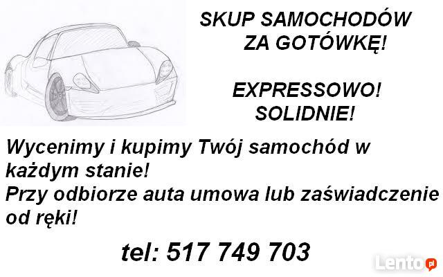 Auto Skup Złomowanie Aut Samochodów za GOTÓWKĘ Łódź Zgierz