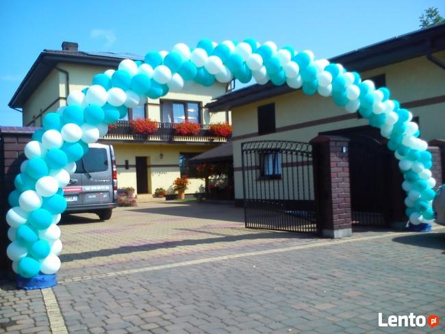 Girlanda z balonów Warszawa brama balonowa łuk z balonów hel