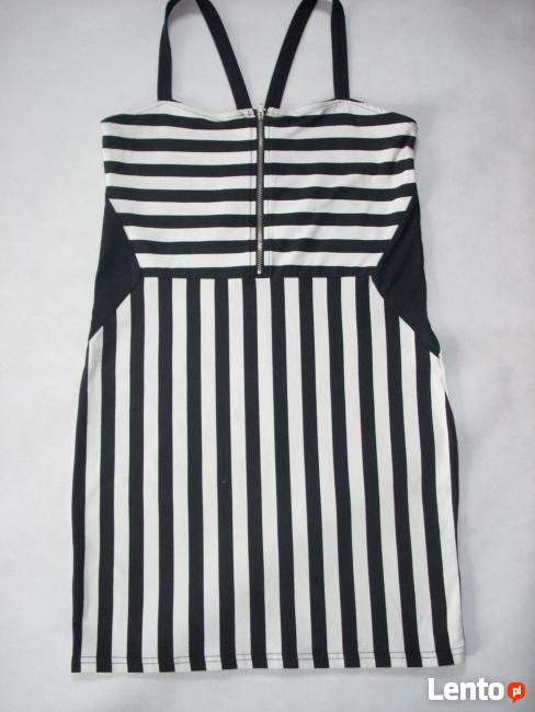 H&M modna NOWA sukienka Marynarska Paski 38 40