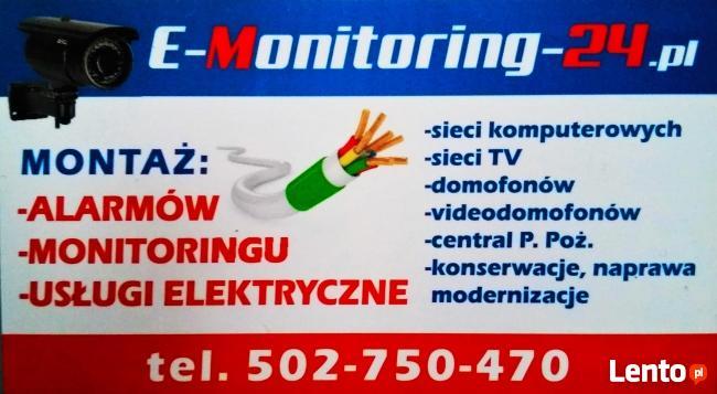 Monitoring,Alarmy,Napędy do bram,Usługi elektryczne,Wideodom