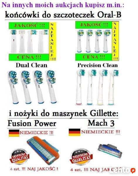4x NIEMIECKIE Nożyki / Wkłady do GILLETTE FUSION POWER 4 szt