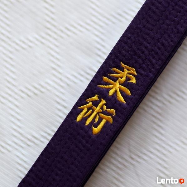 PAS / OBI do Ju Jitsu - PURPUR - haft