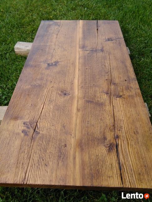 Wspaniały Blaty drewniane ze starego drewna Stare deski Loft Stół Warszawa DH93