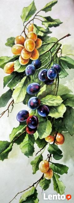 Obraz olejny - Owoce - ŚLIWKI.