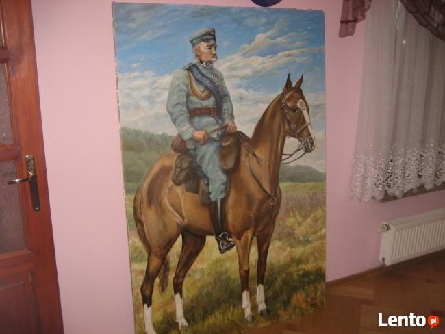 Obraz Piłsudski na kasztance sprzedam lub zamienię na...