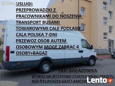 KIEROWCA z własnym autem osobowym-do wynajecia BAGAZOWKI PL