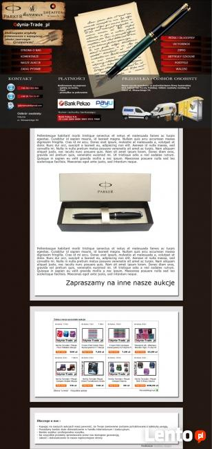 Szablony aukcji Allegro na indywidualne zamówienie