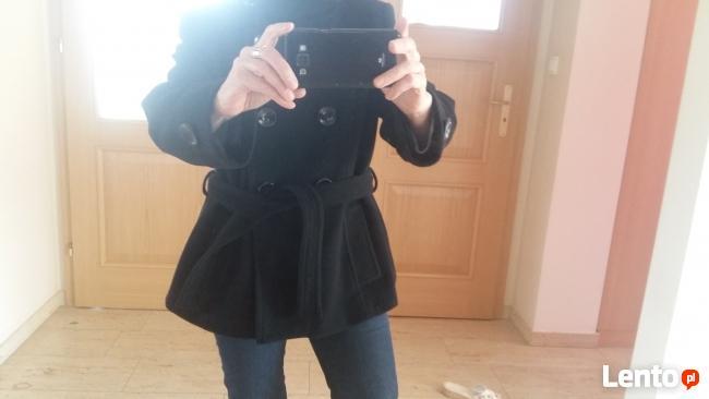 Zara kurtka damska czarna 80 % wełna rozmiar XL