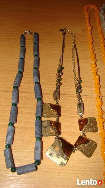 Korale kolia z kamieni szlachetnych - okazja wyprzedaż