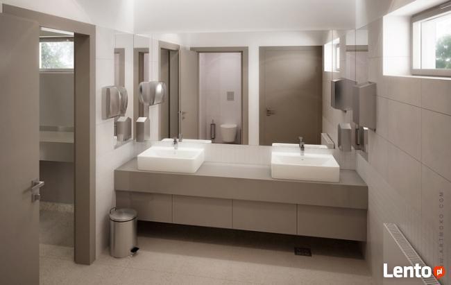 Wyposażenie toalet - dozowniki, podajniki, kosze, suszarki